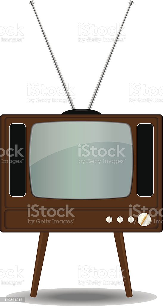 Old TV royalty-free stock vector art