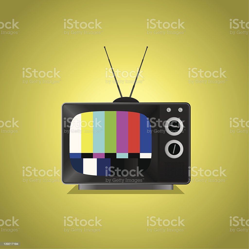 Old TV with No Signal royalty-free stock vector art