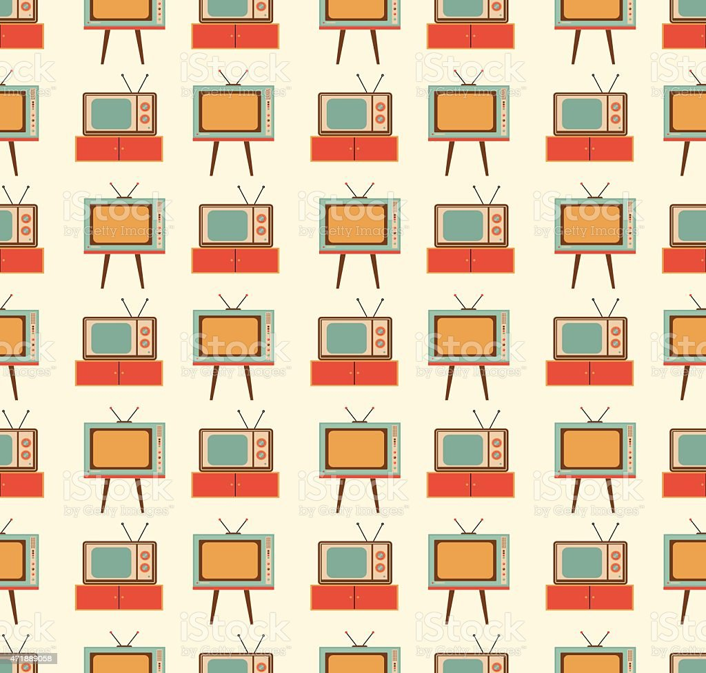 old TVs pattern vector art illustration