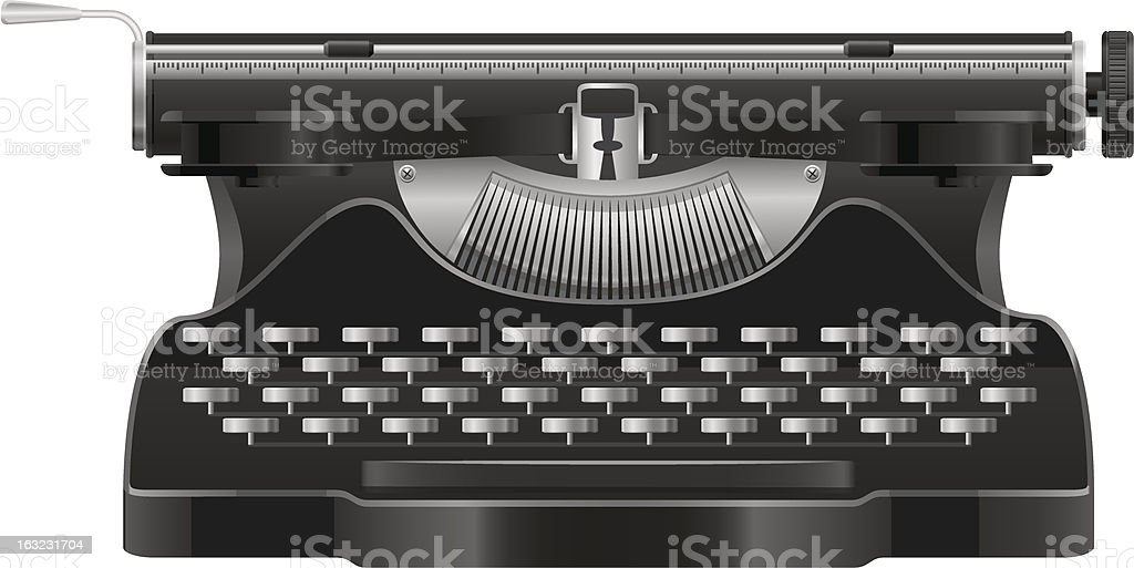 old typewriter vector illustration isolated on white background vector art illustration