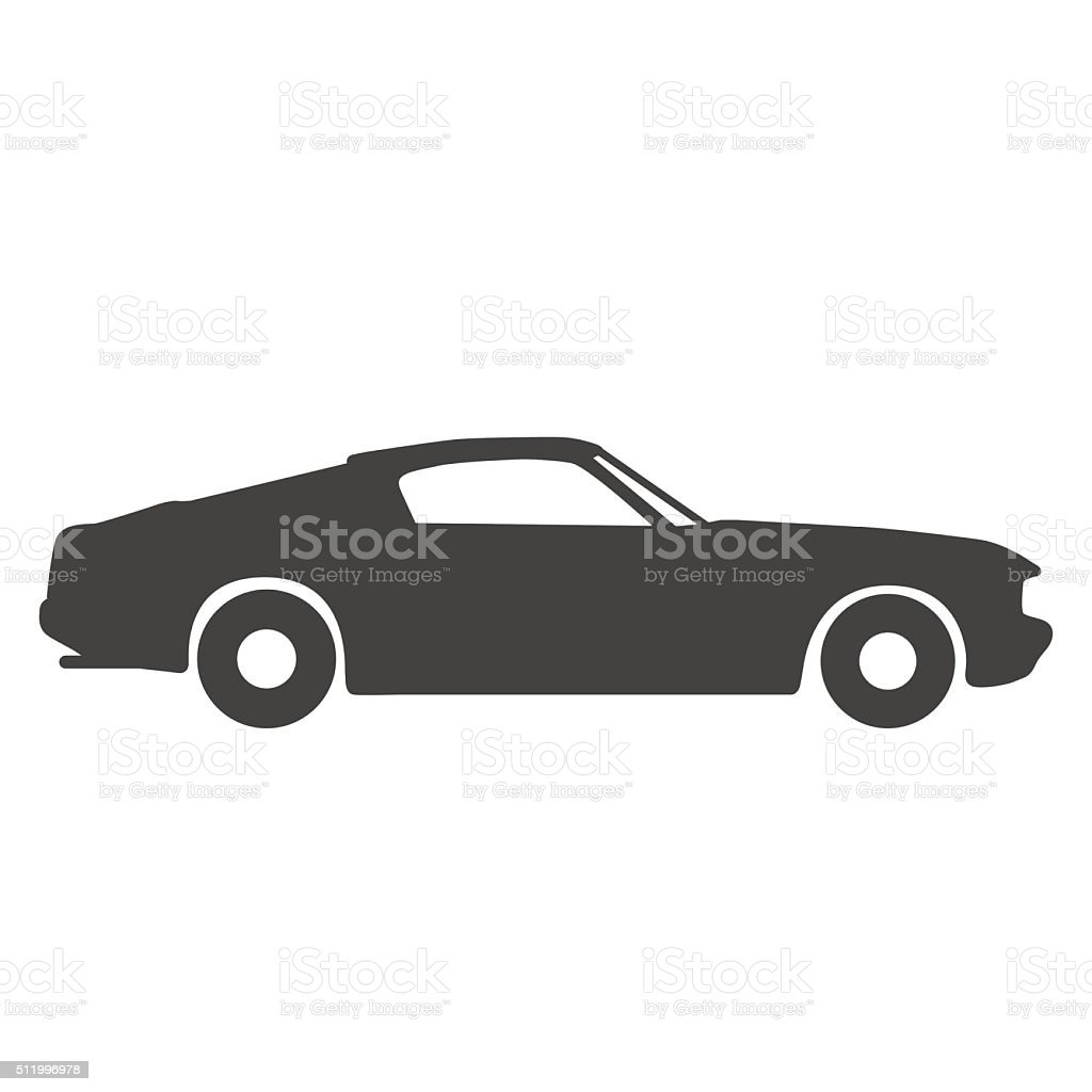 Old vintage classic car icon. Vector illustration vector art illustration