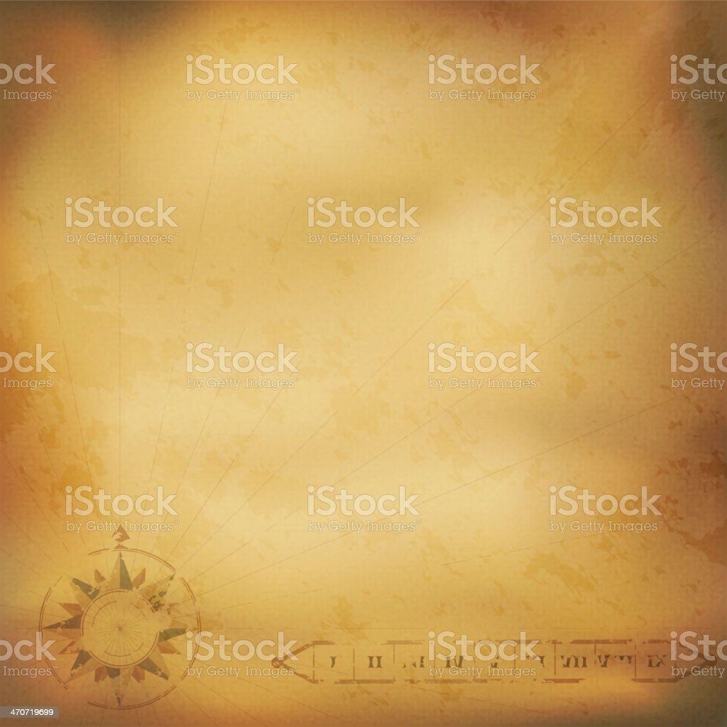 Old vintage paper with wind rose compass royalty-free stock vector art