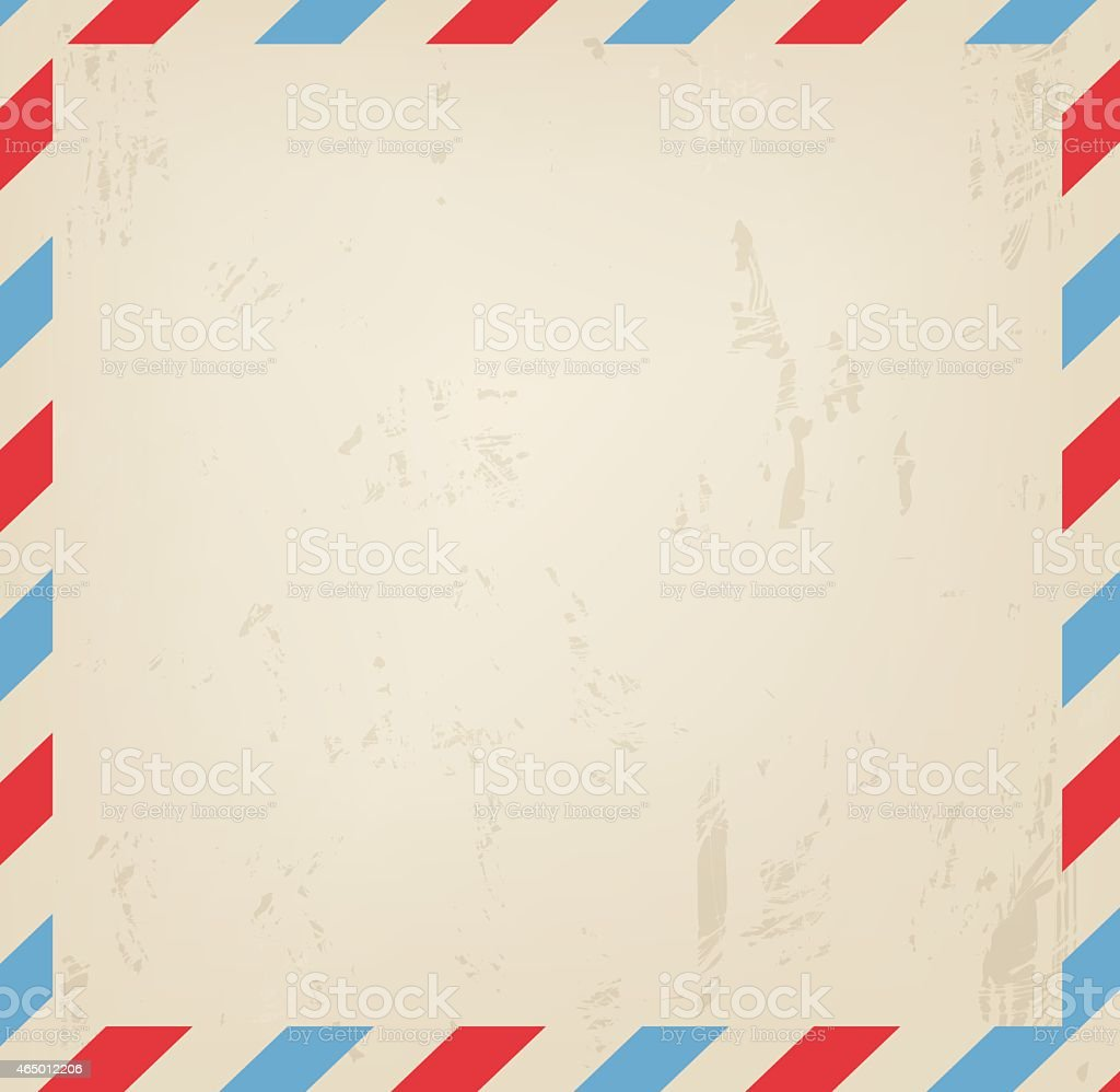 Old vintage post blank grungy background vector illustration vector art illustration