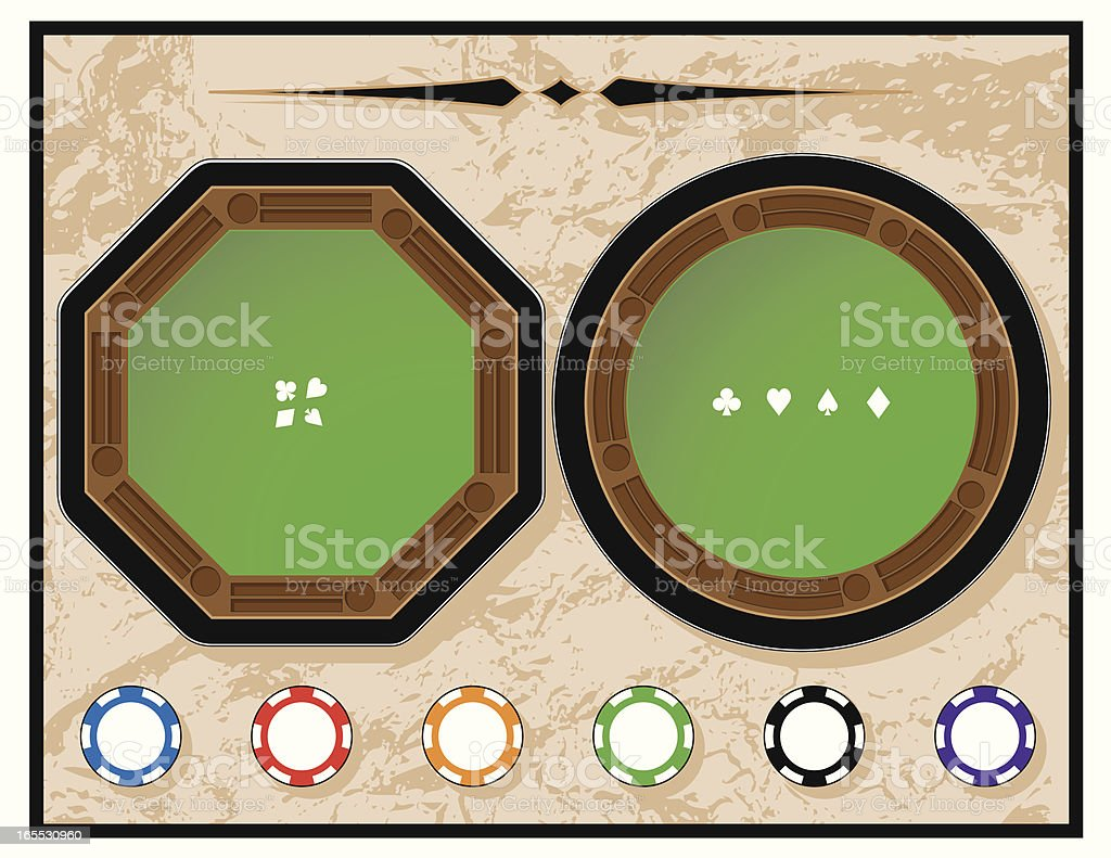 Old West Poker Tables royalty-free stock vector art