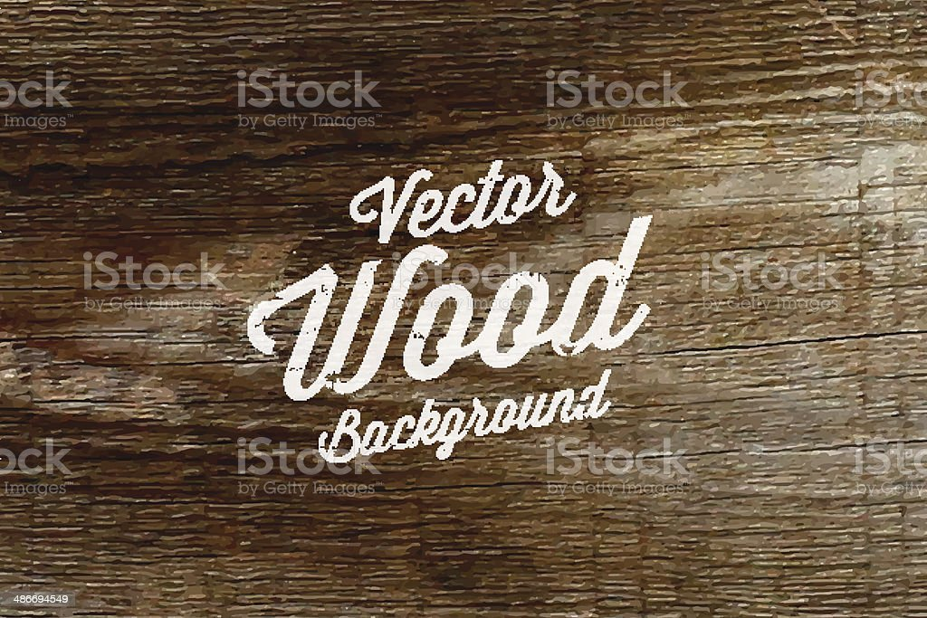 Old wood background texture. vector art illustration