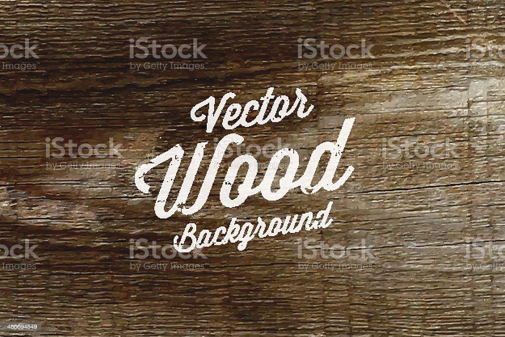Old wood background texture. vector art illustration