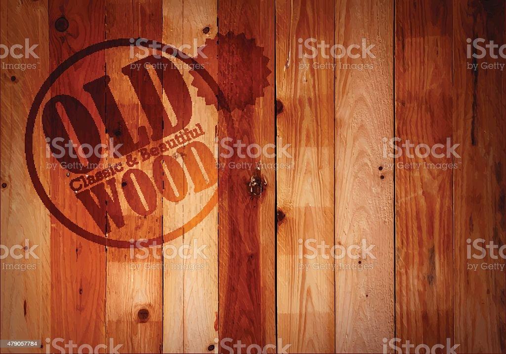 Old wood wall texture vector art illustration