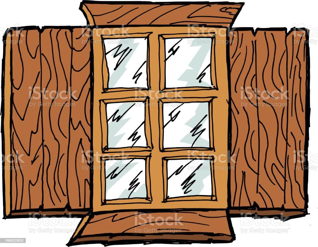 Old wooden window royalty-free stock vector art