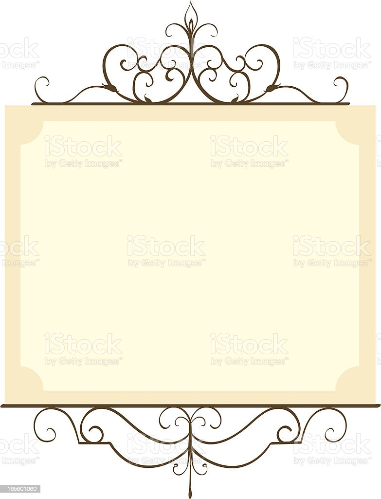 Old World Frame royalty-free stock vector art