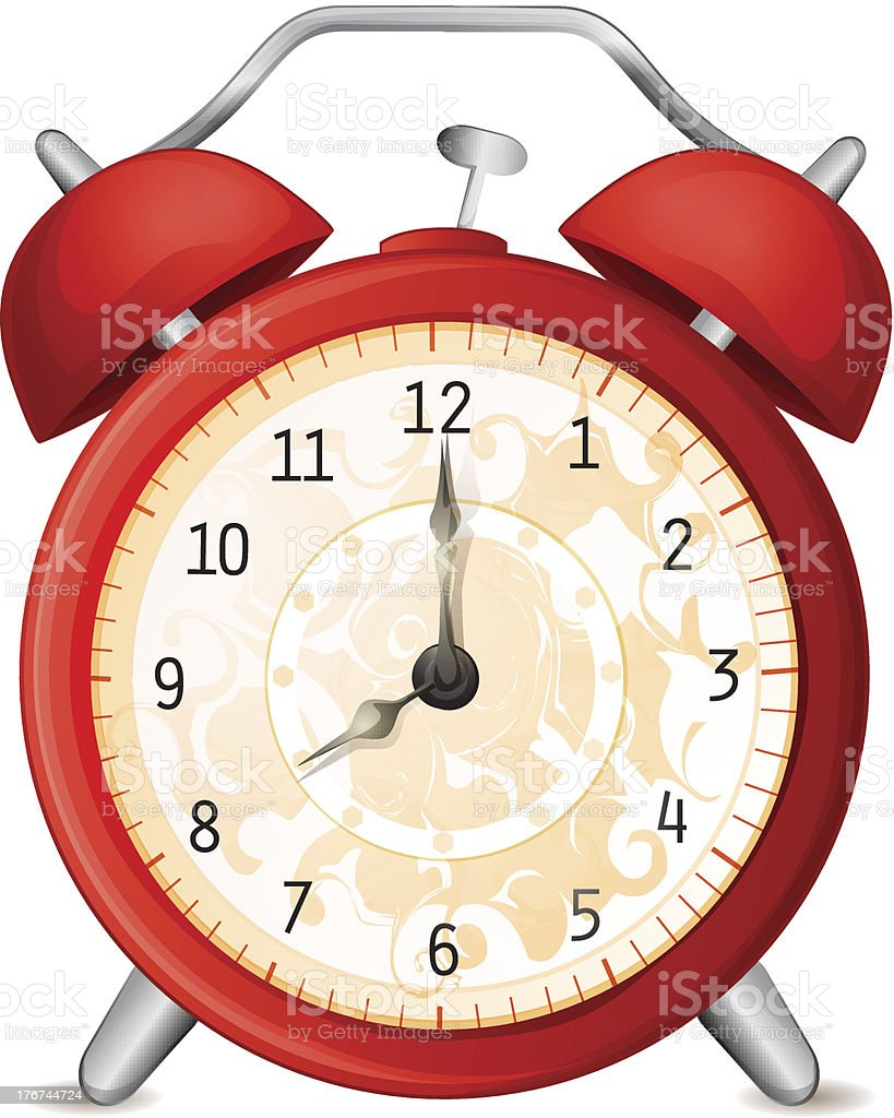 Old-fashioned alarm clock royalty-free stock vector art