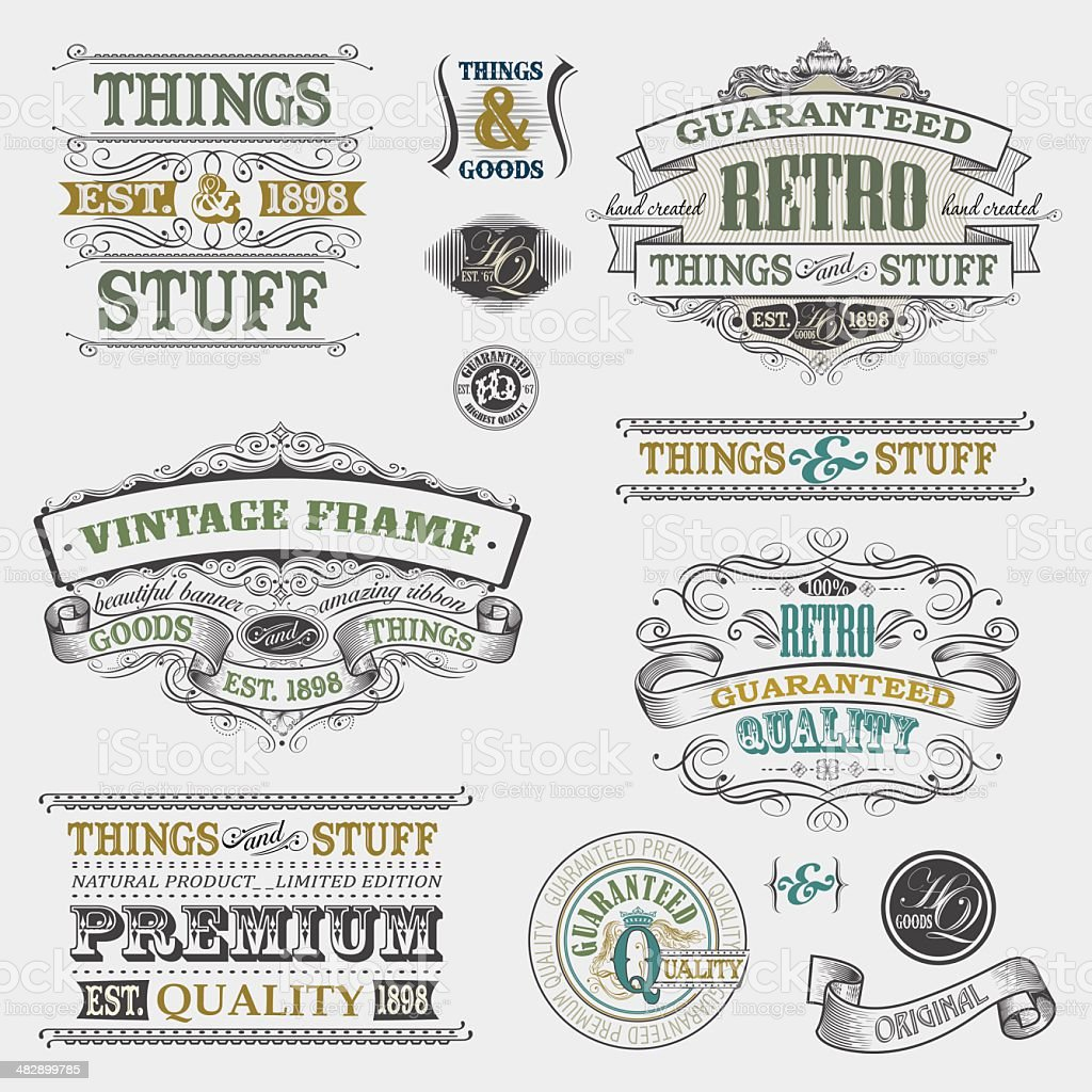 Old-fashioned Banners royalty-free stock vector art