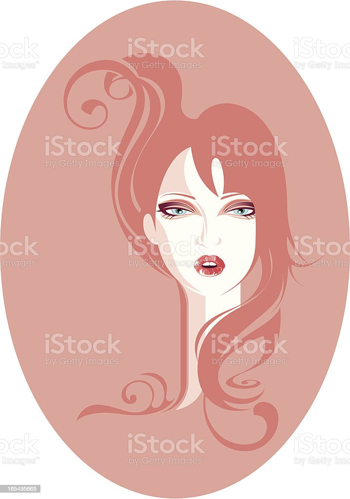 Old-fashioned beauty. royalty-free stock vector art