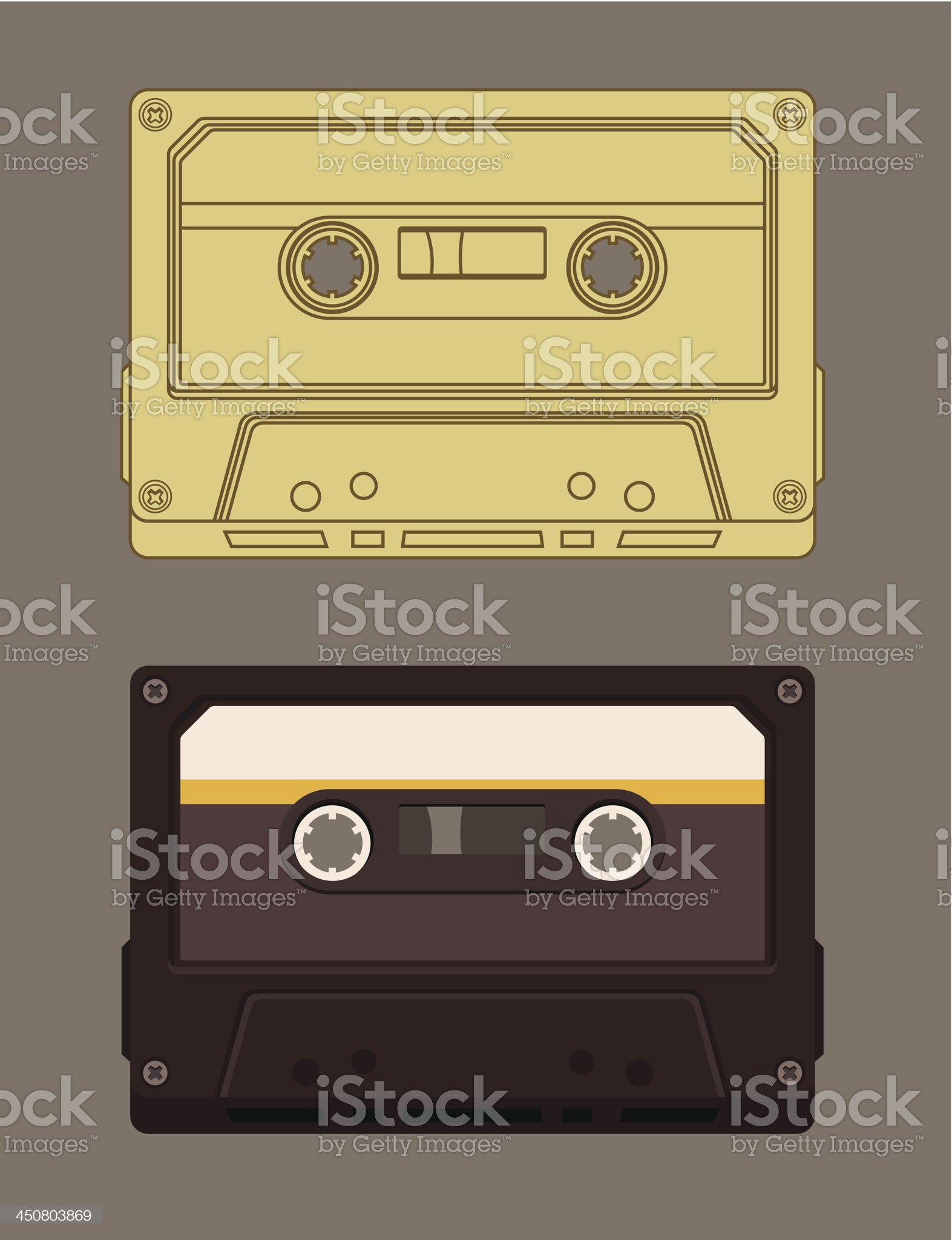 Old-fashioned music cassette royalty-free stock vector art