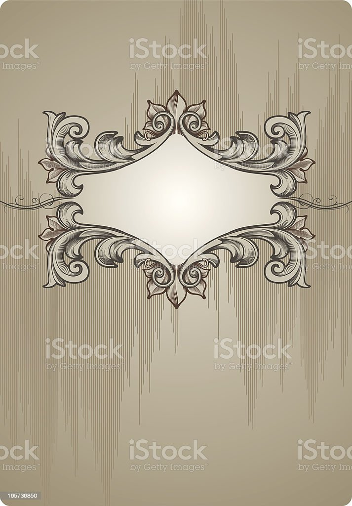 Old-fashioned vignette royalty-free stock vector art