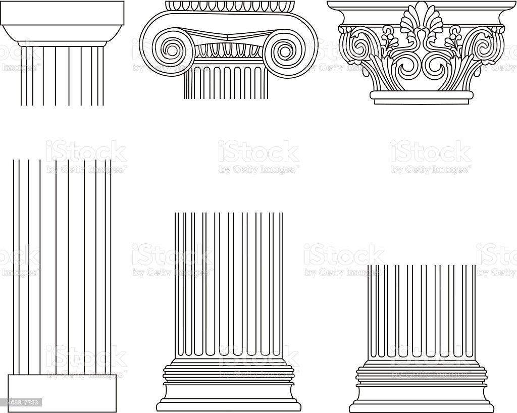 ????Old-style greece column background. vector illustration?? vector art illustration