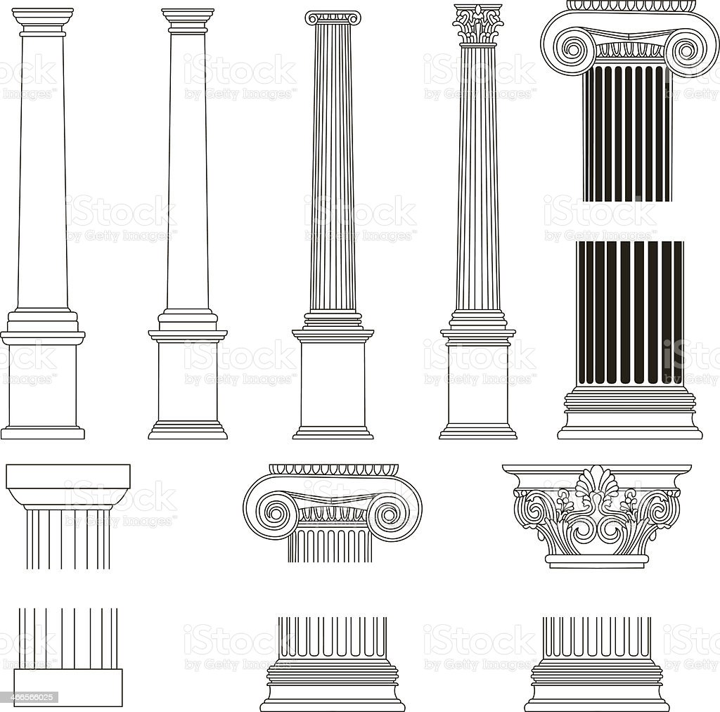 Old-style greece column. vector illustration vector art illustration
