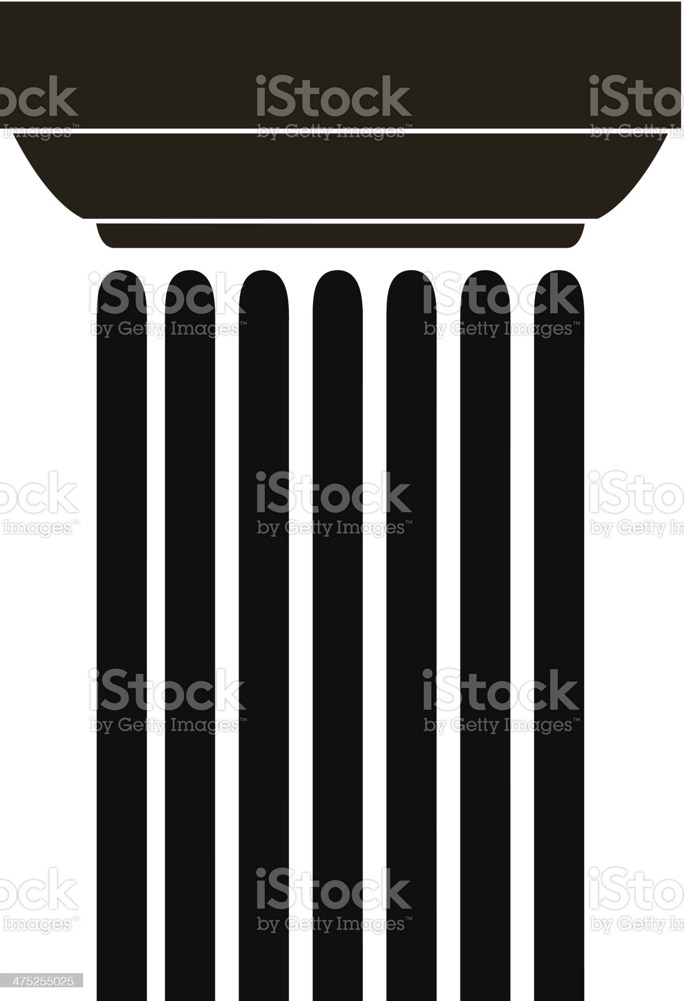 Old-style greece column. vector illustration royalty-free stock vector art
