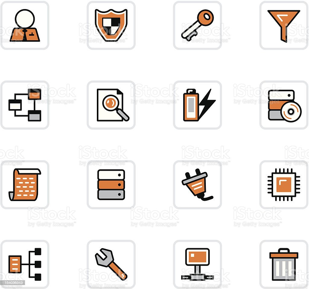 'OlenZ' Icon Series - Database royalty-free stock vector art