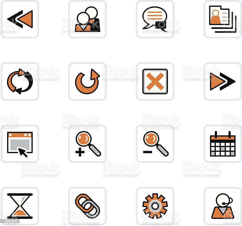 'OlenZ' Icon Series - Internet royalty-free stock vector art