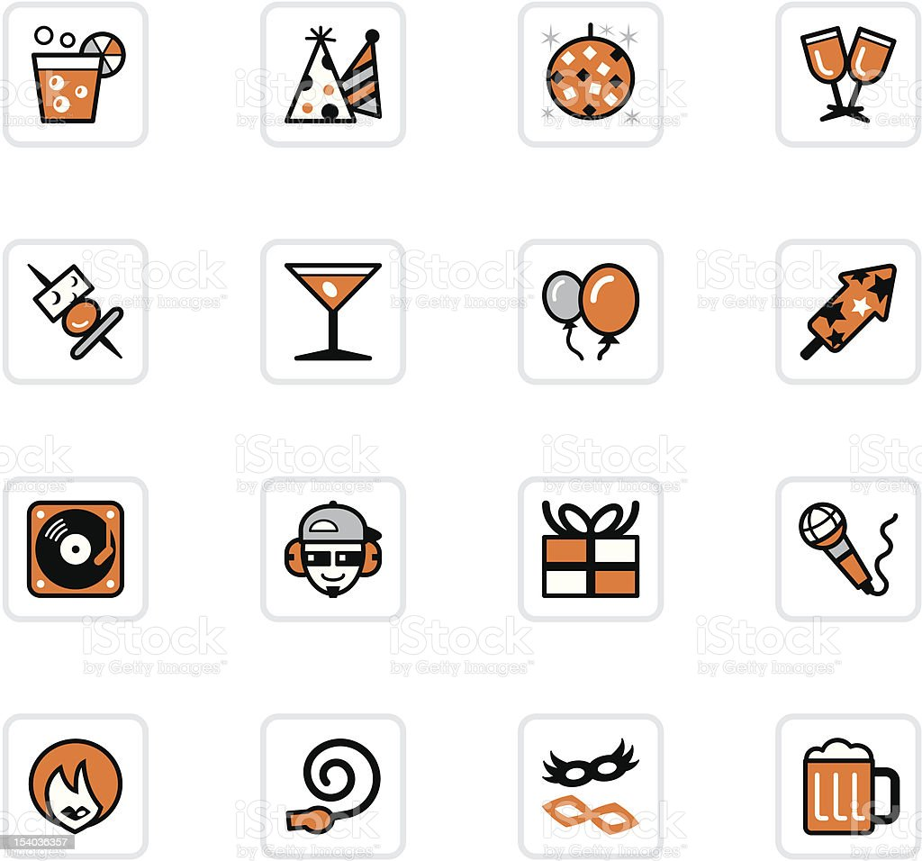 'OlenZ' Icon Series - Party royalty-free stock vector art