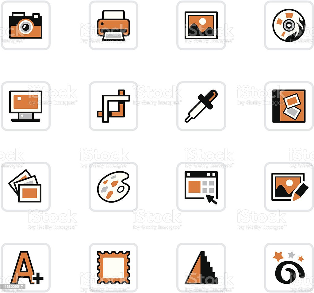 'OlenZ' Icon Series - Photo Editing royalty-free stock vector art