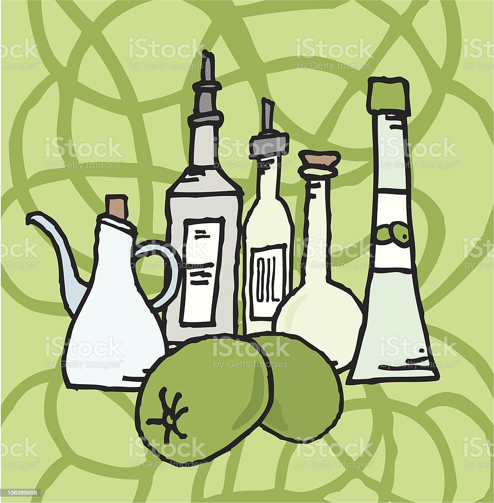 Olive and derivatives royalty-free stock vector art