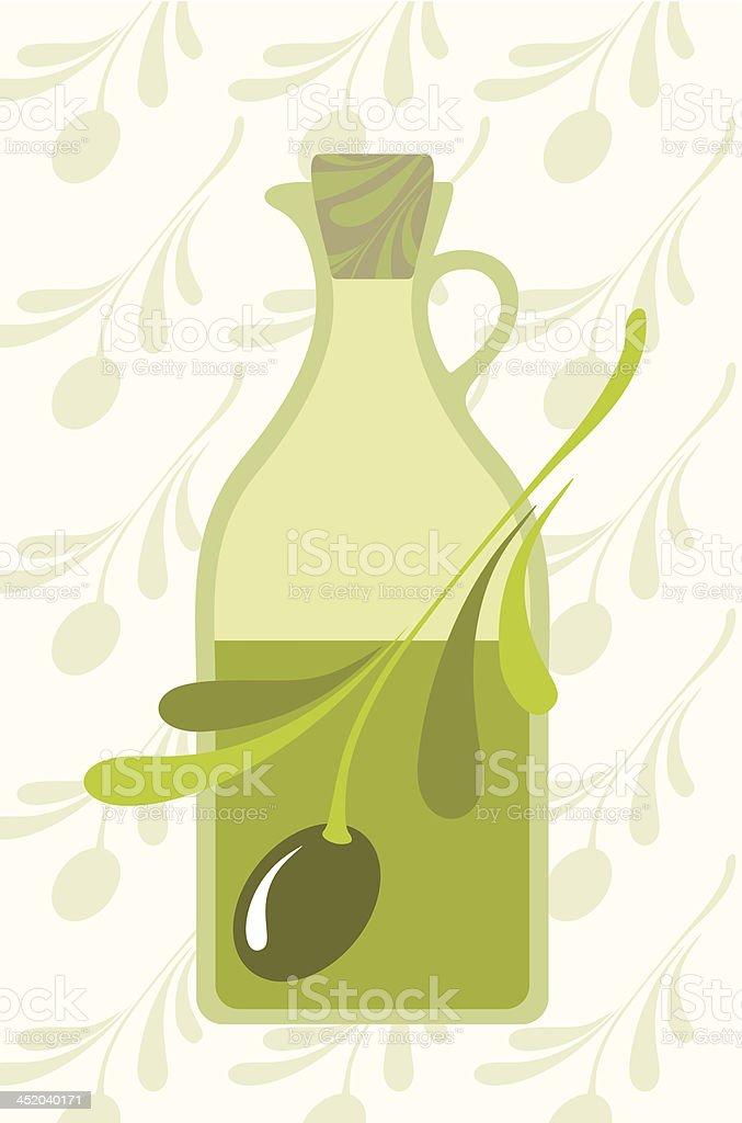 Olive and olives oil royalty-free stock vector art