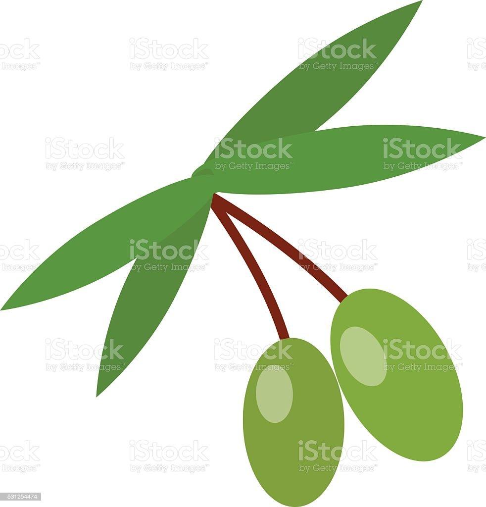 Olive branch vector illustration vector art illustration