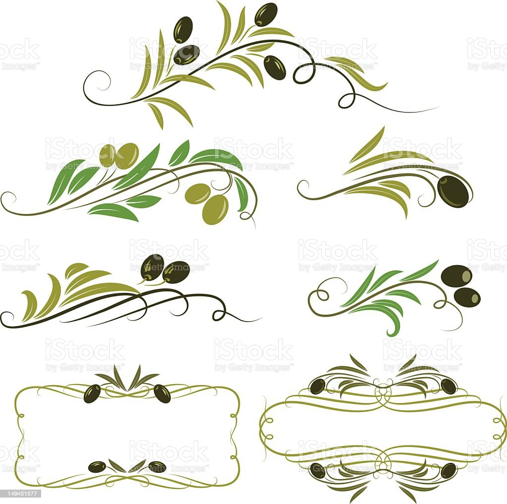 olive design stock photo