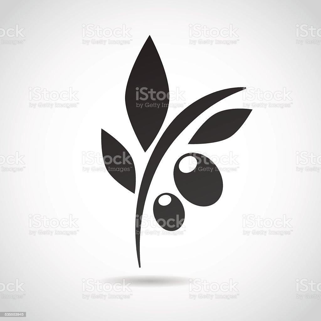 Olive icon isolated on white background. vector art illustration