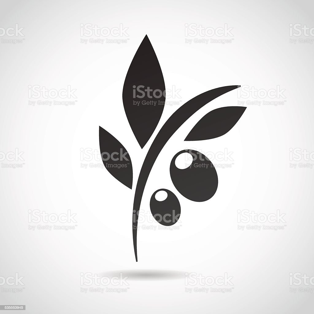 Olive icon isolated on white background. vector art illustration