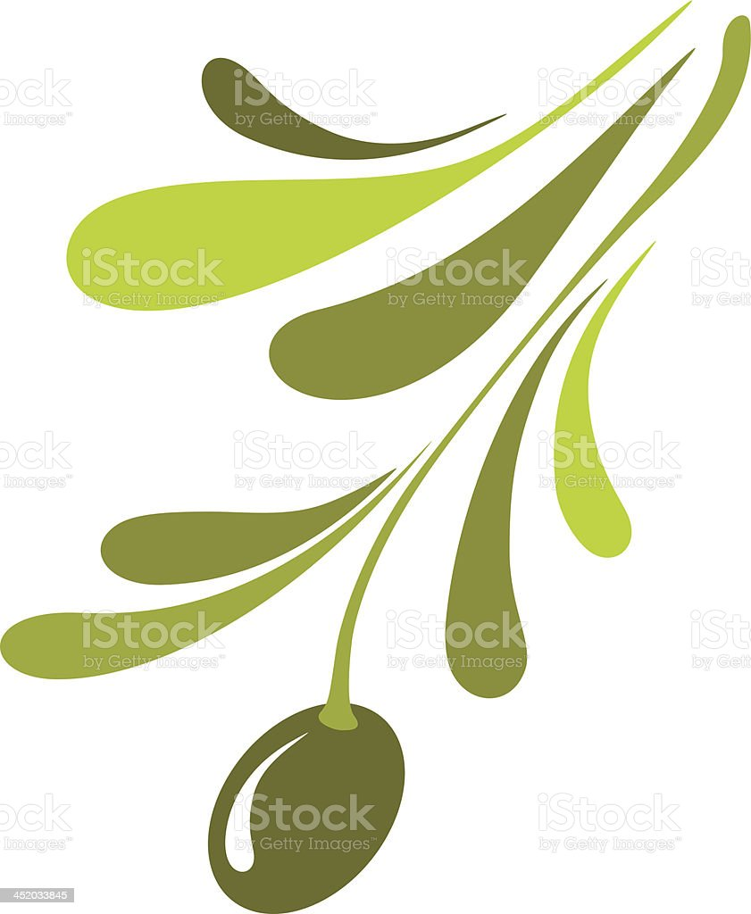 Olive icon royalty-free stock vector art