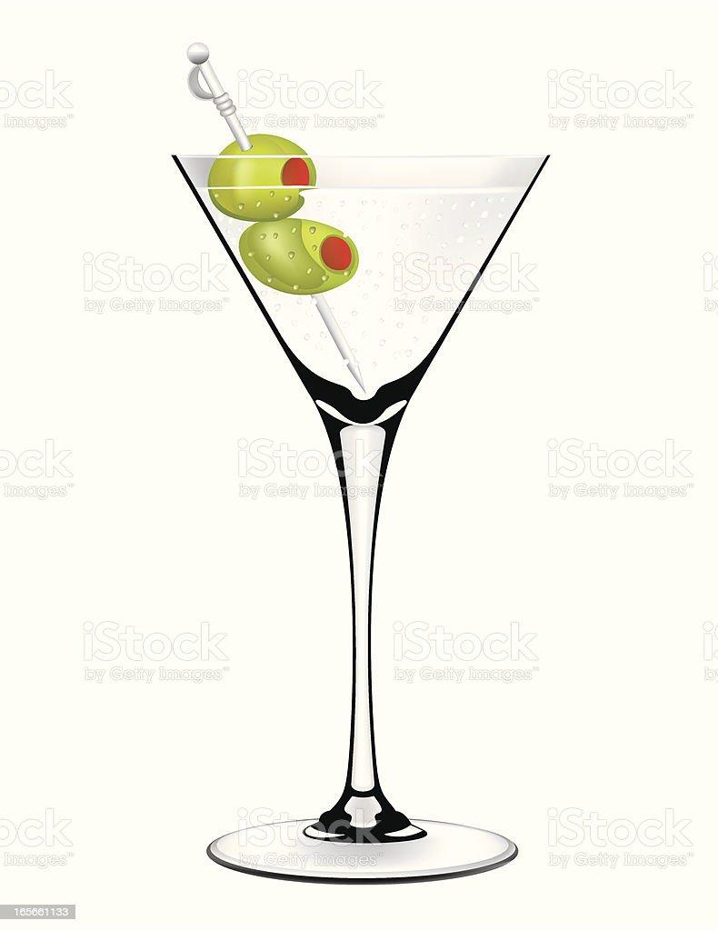 Olive Martini royalty-free stock vector art