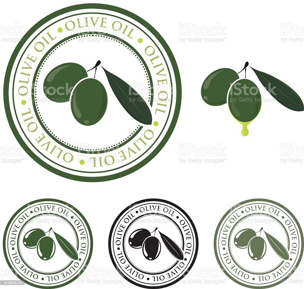 Olive oil badge vector art illustration
