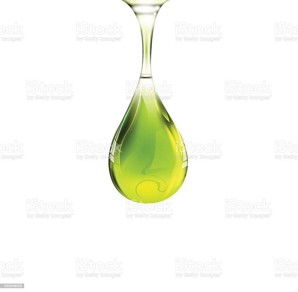 Olive oil drop vector art illustration