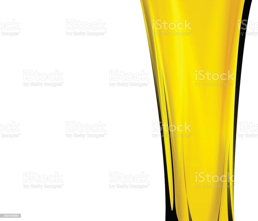 Olive oil splash in white background vector art illustration