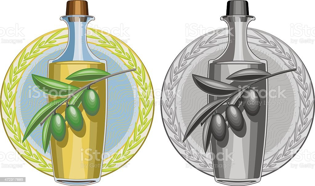 Olive oil royalty-free stock vector art