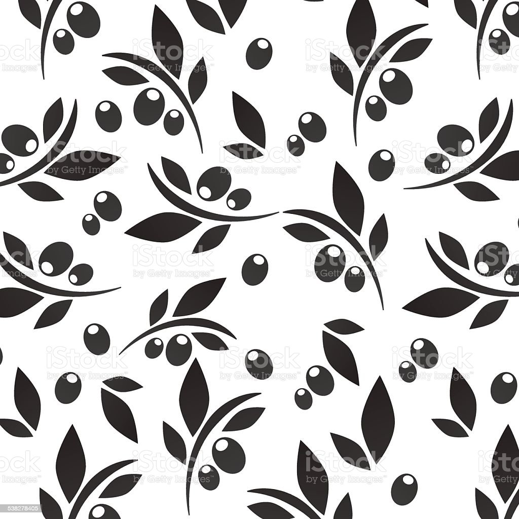 Olive pattern vector art illustration
