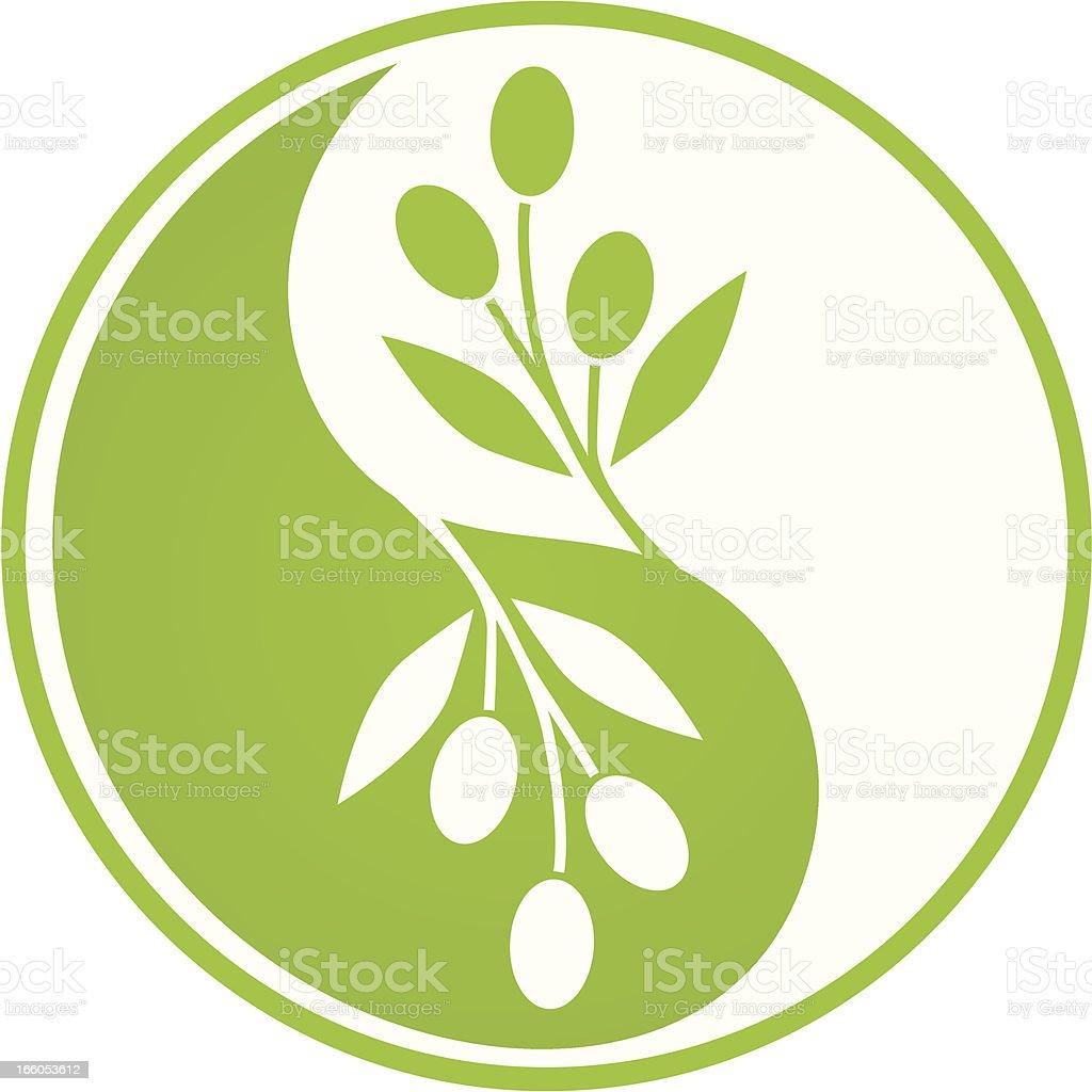 Olive Yin Yang royalty-free stock vector art