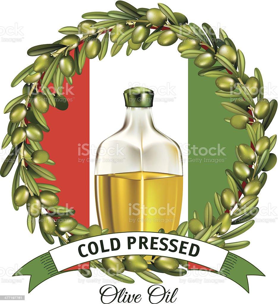 banner aceitunas decoracin y los colores de la bandera italiana libre de derechos libre de