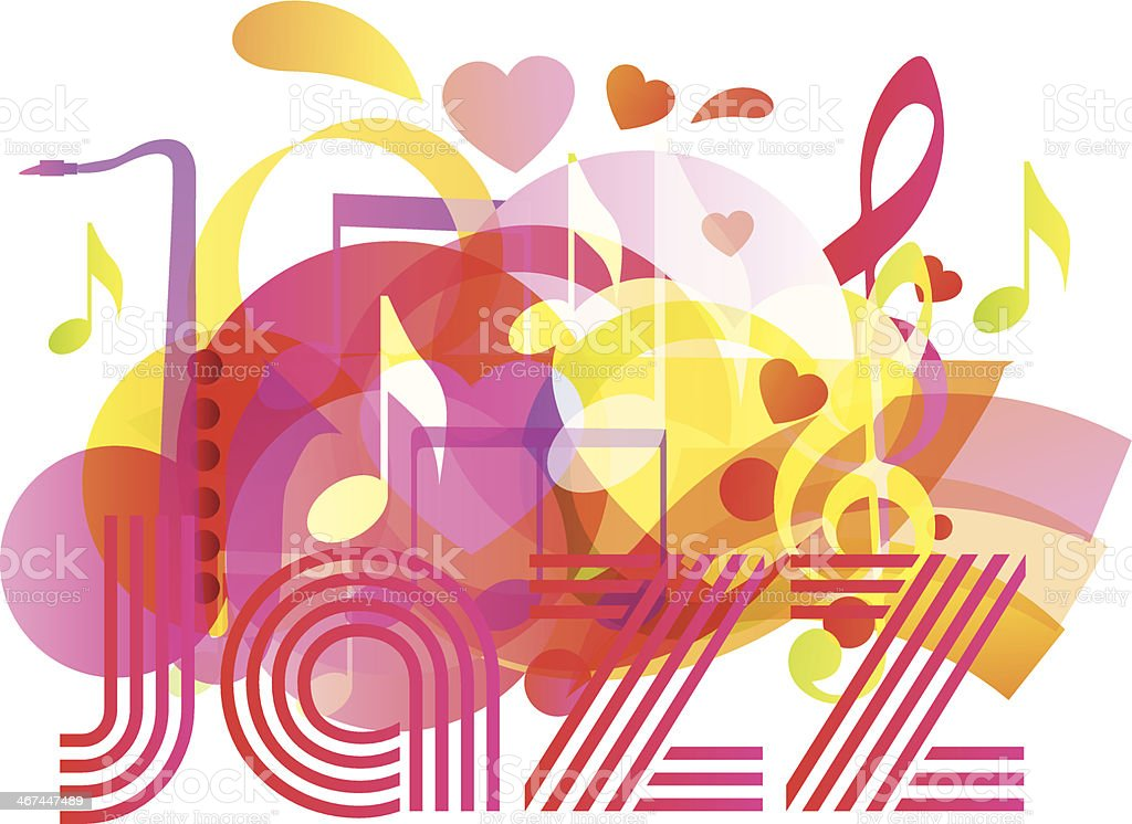 Сolor vector musical composition royalty-free stock vector art