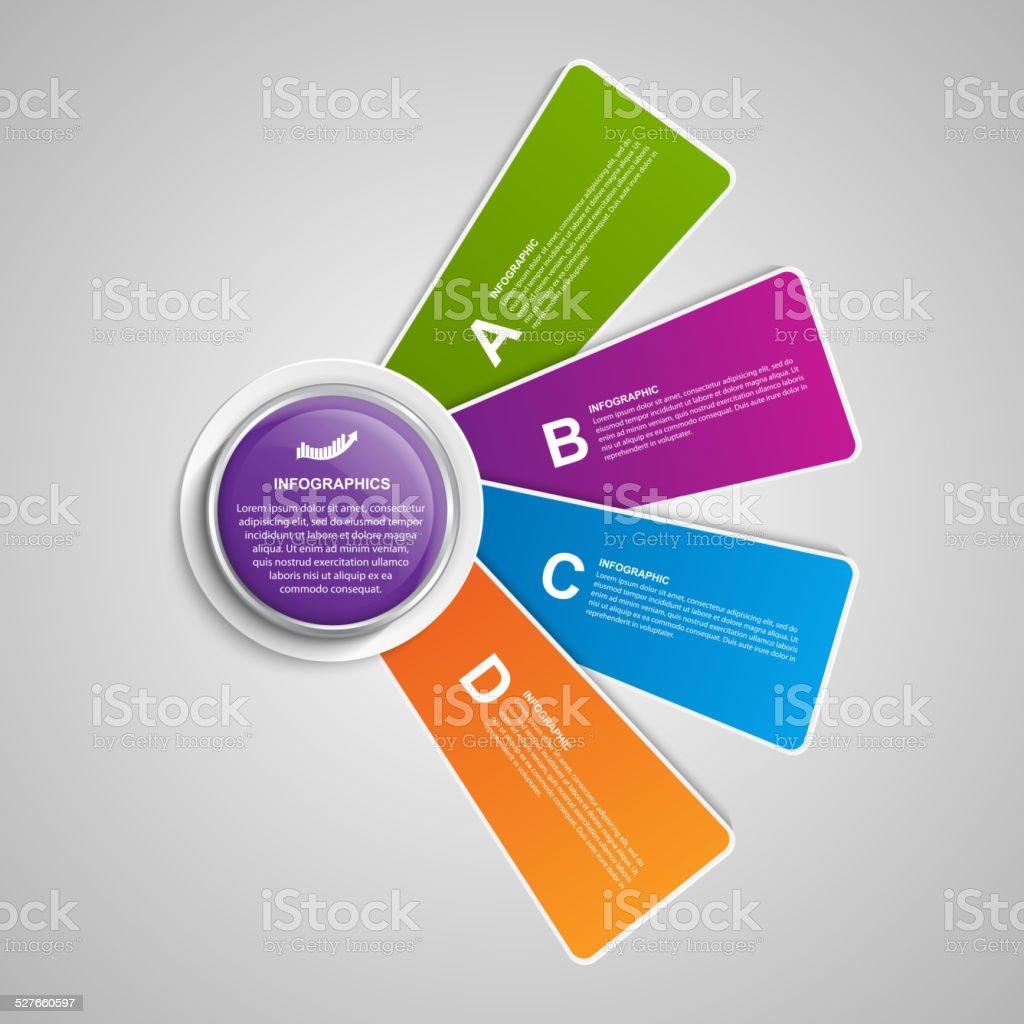 Design elements banner -  Olorful Infographics And Options Banner Design Elements Royalty Free Stock Vector Art