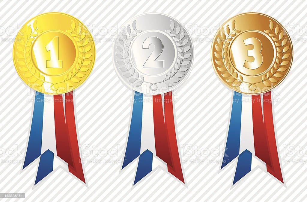 Olympic Medallions. royalty-free stock vector art