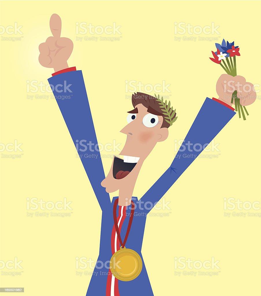 Olympic Medallist royalty-free stock vector art