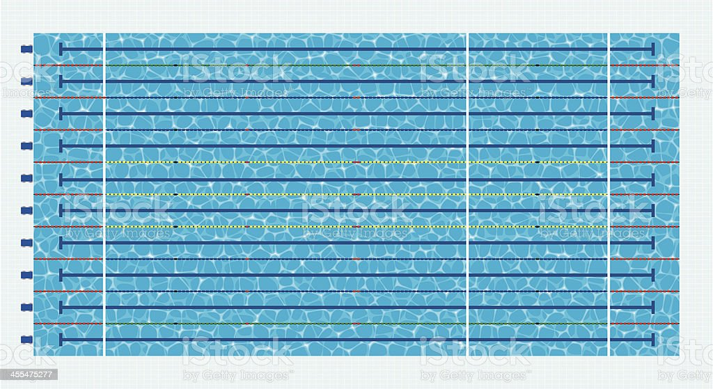 Olympic Size Swimming Pool vector art illustration