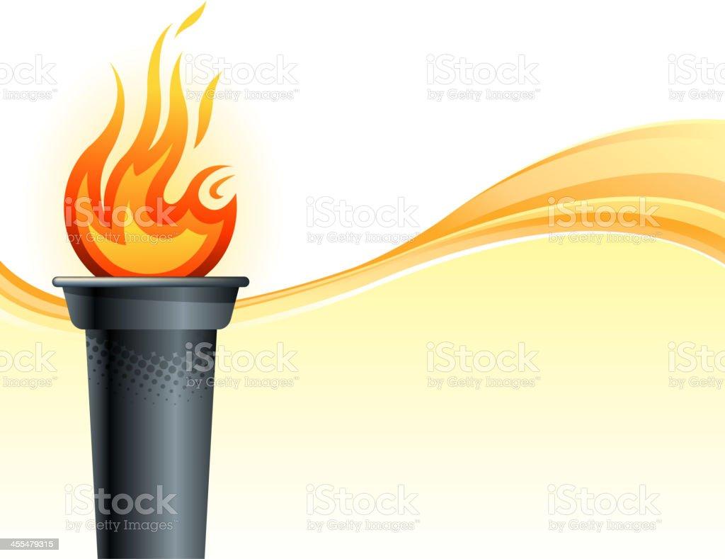 olympic torch backround vector art illustration