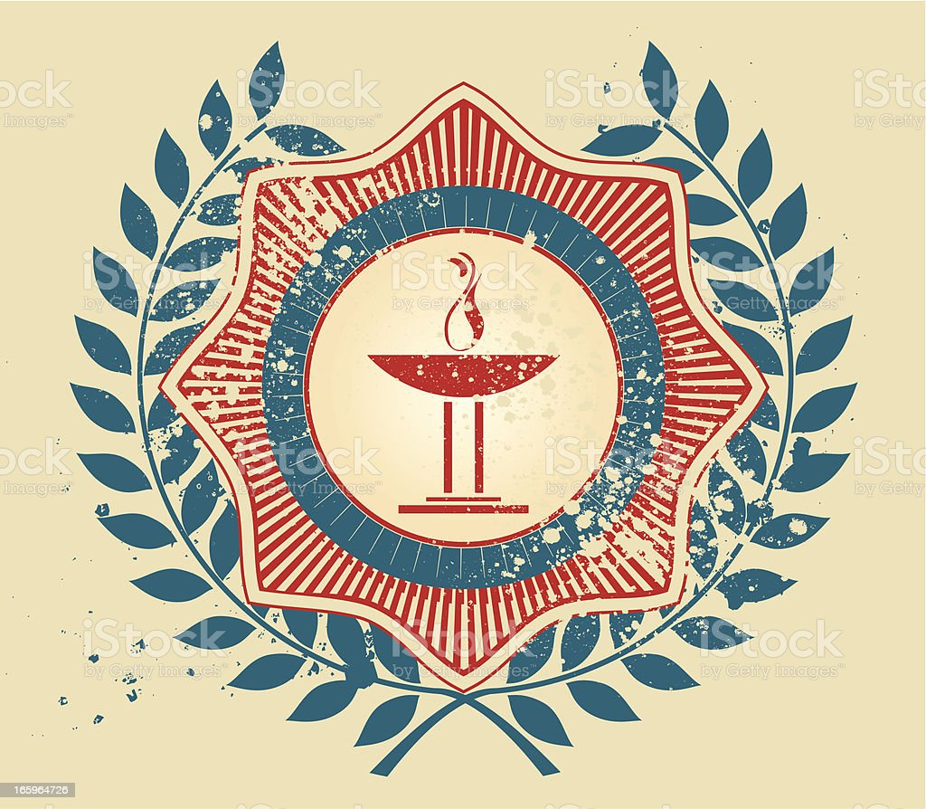 Olympic torch emblem vector art illustration