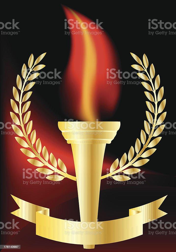 Olympic torch vector art illustration