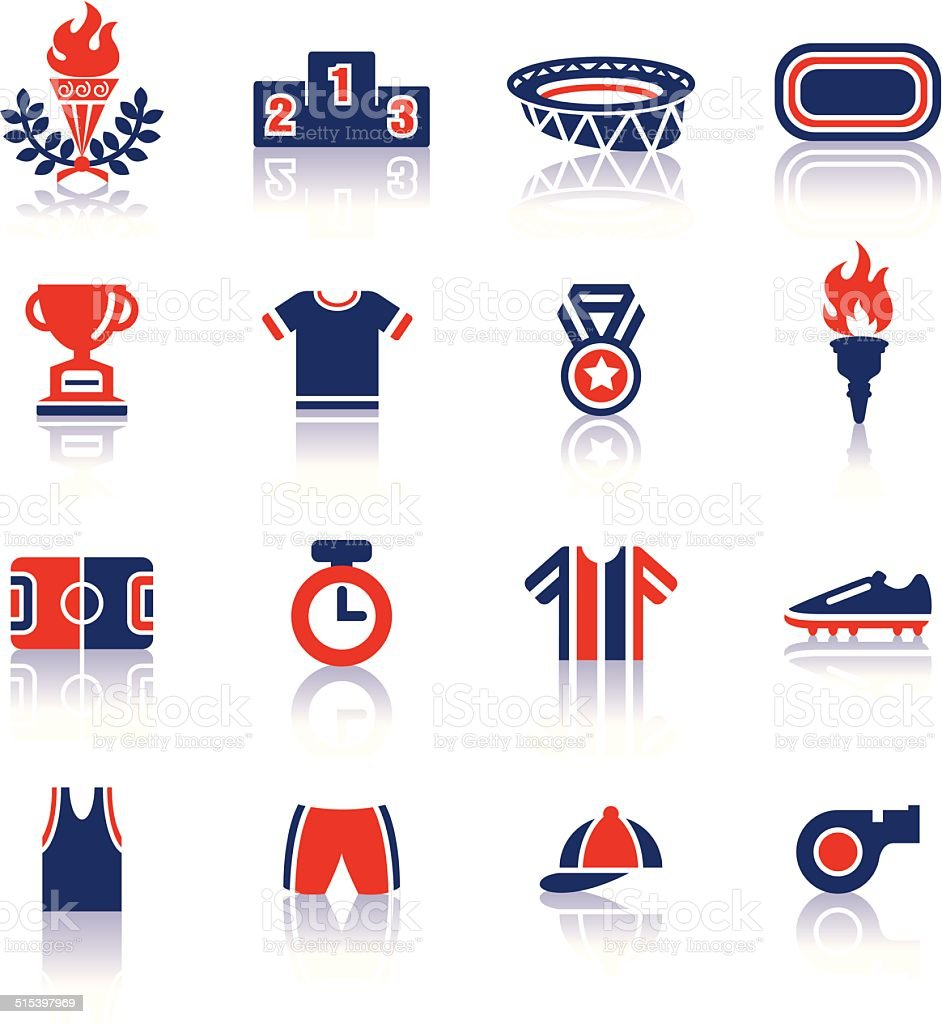 Olympics Color Icons vector art illustration