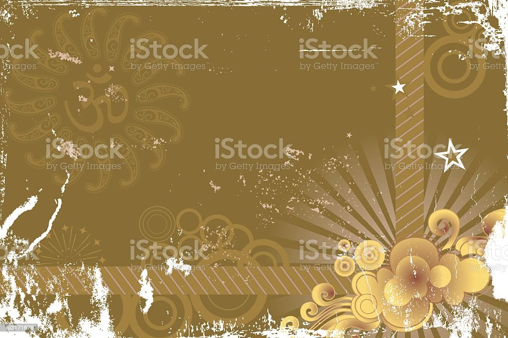 om - Greeting card royalty-free stock vector art